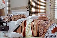 Сатиновое постельное белье семейное ELWAY 3838