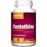 Jarrow Formulas, Пантетин, 450 мг, 60 желатиновых капсул