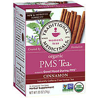 Traditional Medicinals, Травяной чай, чай для облегчения ПМС, без кофеина, 16 чайных пакетиков в индивидуальной упаковке, 1.13 унций (32 г)