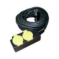 Удлинитель влагозащищенный электрум SB-2А 10м /16A   зазем. IP44