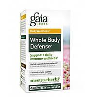 Gaia Herbs, DailyWellness, защита всего тела, 60 вегетарианских фито-капсул