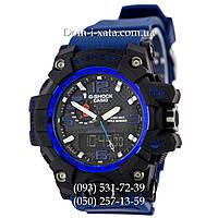 Электронные часы Casio G-Shock GWG 1000 Black/Blue, спортивные часы Джи Шок(черно-синие)