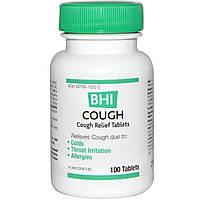 MediNatura, BHI, средство от кашля, 100 таблеток
