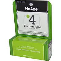 Hylands, NuAge, № 4 Ferrum Phos (фосфат железа), 125 таблеток