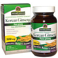 Natures Answer, Корейский женьшень, 500 мг, 50 растительных капсул