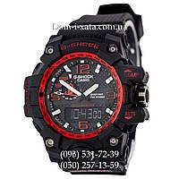 Электронные часы Casio G-Shock GWG 1000 Black/Red, Джи Шок черные, красный циферблат