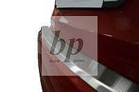 Защитная хром накладка на задний бампер с загибом Kia Cerato III (киа церато/черато/серато 2013+)