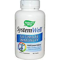 Natures Way, System Well, Средство для укрепления иммунитета, 180 таблеток