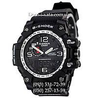 Электронные часы Casio G-Shock GWG 1000 Black/Silver, спортивные часы Джи Шок черные, серебристый циферблат
