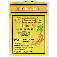 Superior Trading Company, Чистый Экстракт Концентрированного Корейского Женьшеня 1.06 унций