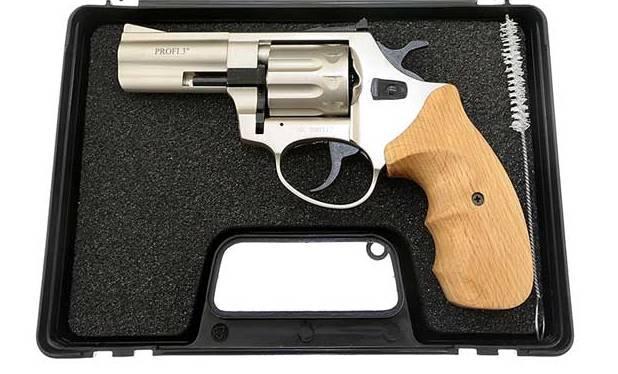 "Револьвер под патрон Флобера калибра 4мм. Profi 3"" сатин / бук. Profi ZBROIA."
