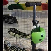 Трехколесный детский САМОКАТ - СКУТЕР (Scooter 3 в 1) с сиденьем и корзиной, фото 1