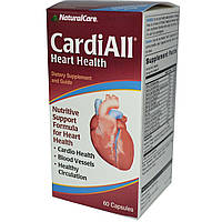 Natural Care, Пищевая добавка CardiAll, для укрепления здоровья сердца, 60 капсул
