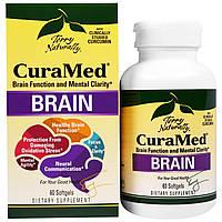 EuroPharma, Terry Naturally, CuraMed для мозга, 60 мягких желатиновых капсул