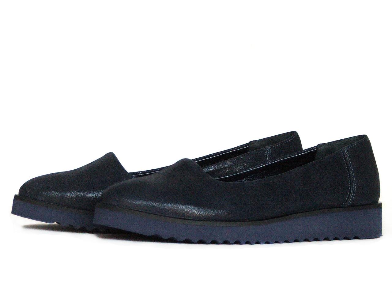 Туфли темно-синие женские