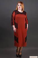 Женское платье коричневого цвета-54,56,58,60