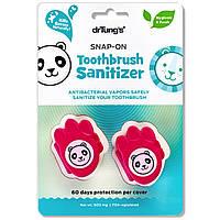 Dr. Tungs, Kids Snap-On Toothbrush Sanitizer, 2 Toothbrush Sanitizers