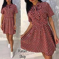 Женское модное платье в горошек (2 цвета)