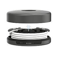Портативная док станция со строенной аккумуляторной батареей, Nomad Pod Apple Watch Charger - серый космос (1800 мАч) (pod-apple-sg-001)
