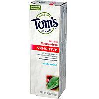 Toms of Maine, Зубная паста для чувствительных зубов, без фтора, морозная мята, 4 унции (113 г)