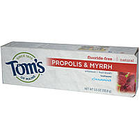 Toms of Maine, Зубная паста с прополисом и мятой без содержания фторида, гессонит, 5.5 унций (155.9 г)