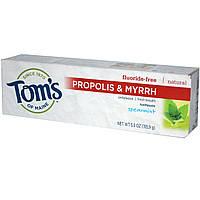 Toms of Maine, Зубная паста без фтора, с прополисом миррой и мятой, 5,5 унции (155,9 г)