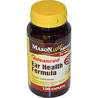 Mason Naturals, Улучшенная добавка для здоровья ушей и слуха, 100 таблеток