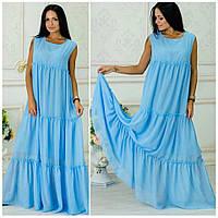 Женское модное платье-сарафан в пол из шифона (8 цветов)