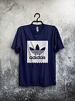 Темно-синяя мужская спортивная футболка Adidas
