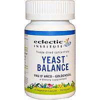 Eclectic Institute, Yeast Balance, розовое лапачо — гидрастис канадский, 350 мг, 45 растительных капсул