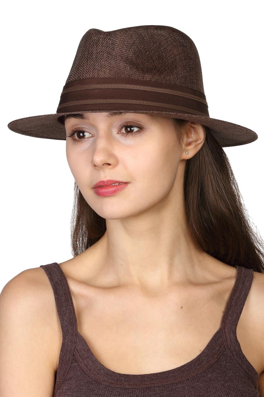 Шляпа коричневая унисекс