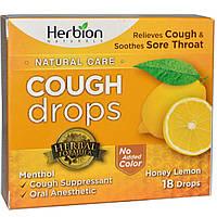 Herbion, Леденцы от кашля Natural Care, мед и лимон, 18 леденцов