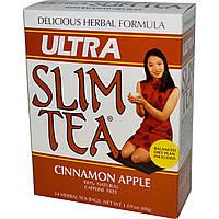 Hobe Labs, Травяной чай для похудения, корица/яблоко, без кофеина, 24 пакетика, 48 г
