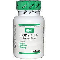 MediNatura, BHI, чистое тело, 100 таблеток