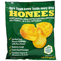 Honees, Средство от кашля с медом, ментолом и эвкалиптом, 20 леденцов от кашля