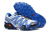 Кроссовки мужские беговые Salomon Speedcross 3 (саломон) голубые