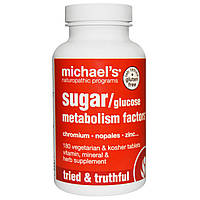 Michaels Naturopathic, Препараты по улучшению метаболизма сахара/глюкозы, 180 вегетарианских таблеток