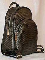 Молодежный женский рюкзак из тисненной эко-кожи