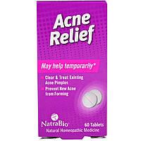 NatraBio, Средство от угревой сыпи Acne Relief, 60 таблеток