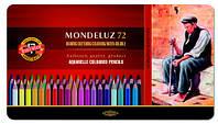 Художественные цветные акварельные карандаши «Mondeluz» Koh-i-Noor 72цв.