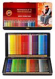 Художественные цветные акварельные карандаши «Mondeluz» Koh-i-Noor 72цв., фото 2