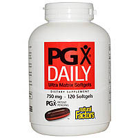 Natural Factors, PGX Daily, Гелевые капсулы Ultra Matrix, 750 мг, 120 гелевых капсул