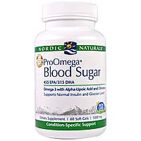 Nordic Naturals Professional, ПроОмега для уровня глюкозы в крови, пищевая добавка с омега-3 для поддержания уровня глюкозы в крови, 1000 мг, 60