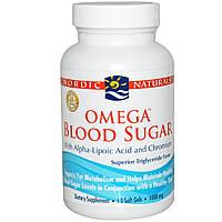 Nordic Naturals, Омега для поддержания уровня сахара в крови, 1000 мг, 60 мягких капсул