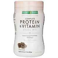 Natures Bounty, Optimal Solutions, Смесь для приготовления напитков, богатая протеинами и витаминами, изысканный шоколад, 16 унций (453 г)