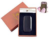 """Спиральная USB-зажигалка """"Jinlun"""" №4843 Black, станет подарком по любому поводу, модный и стильный девайс"""