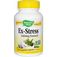 Natures Way, Успокаивающее средство Стресс в прошлом, 445 мг, 100 растительных капсул