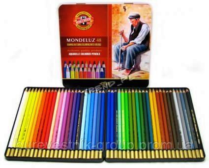 Художественные цветные акварельные карандаши «Mondeluz» Koh-i-Noor 48цв.