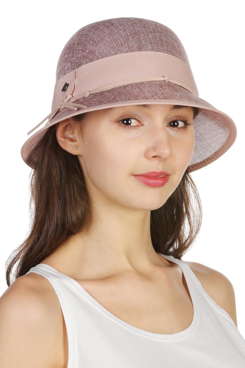Шляпа с маленькими полями розовая