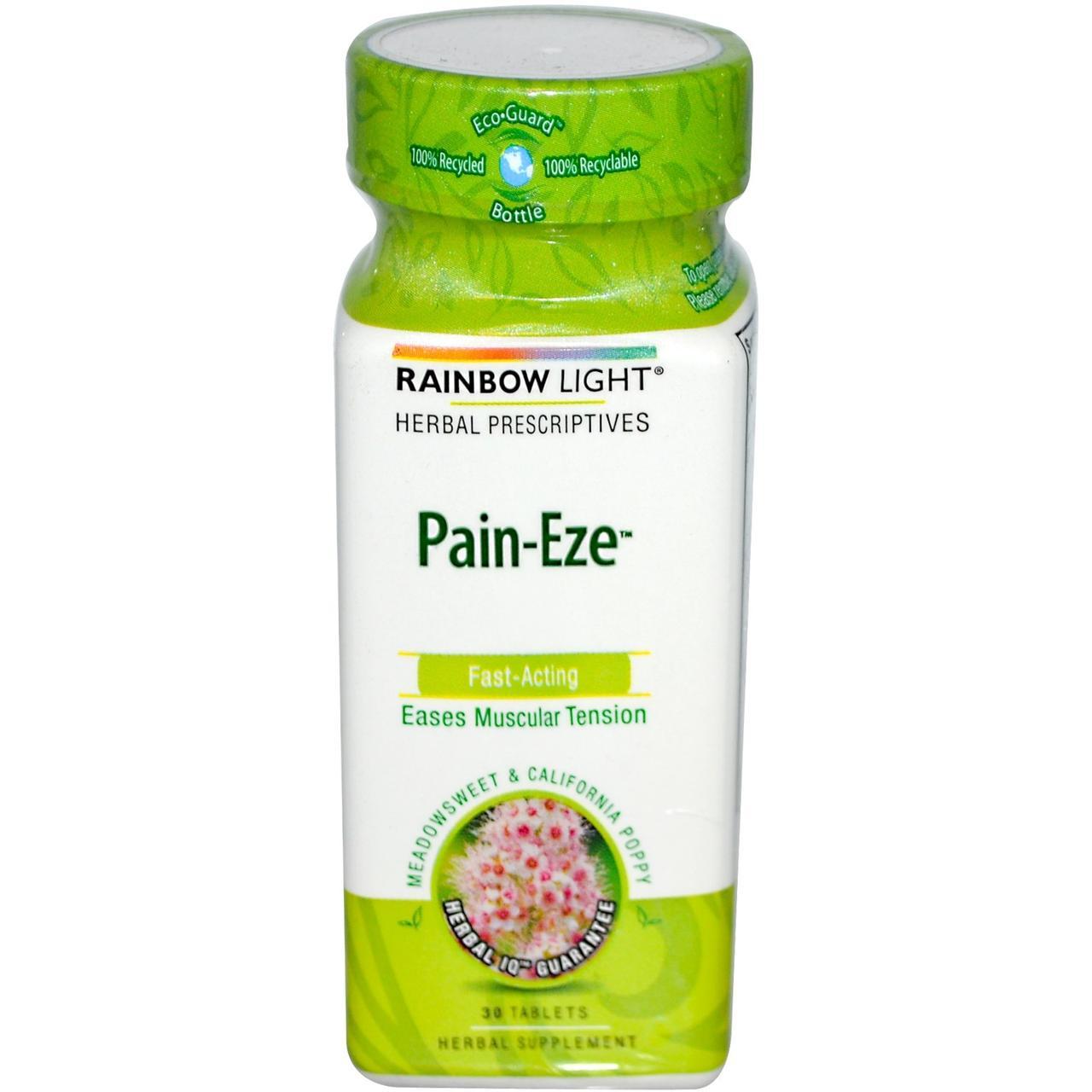 Rainbow Light, Herbal Prescriptive, Pain-Eze, 30 таблеток - Интернет-магазин для здоровой жизни в Киеве